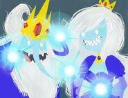 Rainha Gelada Junto de Rei Gelado