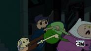 S2e24 Skeletons grabbing on Finn's bag