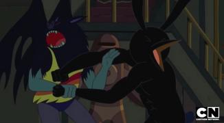 S5 e29 Marceline fighting a giant bird