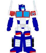 TUFF Puppy Style Transformers Pepsi Optimus Prime