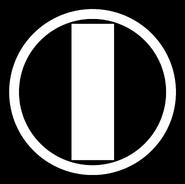 ОРТ (1995, белый, чёрный контур)