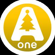 A-One (Украина) (2-ой логотип, оранжево-желтый, новогодний)
