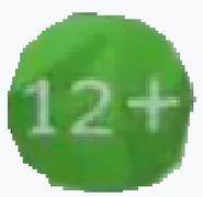 Возрастной знак 12+ (Карусель, 2012-2019) большой