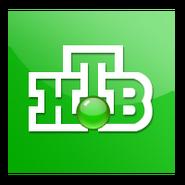 НТВ (2001, зелёный квадрат, объёмный шарик)