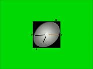 Часы ТВЦ (1999-2006, зелёный фон)