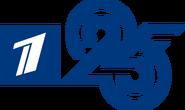 Первый канал (2020, 25 лет, синий, белая заливка)