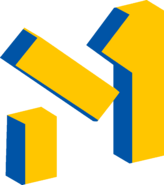 М1 (Украина) (2001-2003, заставочный, 2 вариант, жёлто-синий)