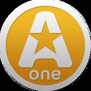 A-One (Украина) (2-ой логотип, оранжево-жёлтый)