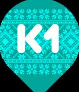 К1 6-й логотип (с украинским орнаментом)