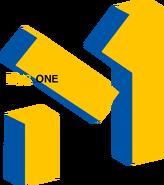 Муz.One (М1 Украина, 2001-2003) (3 вариант, жёлто-синий)