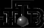 НТВ (2001-2007, объёмный шарик, чб)
