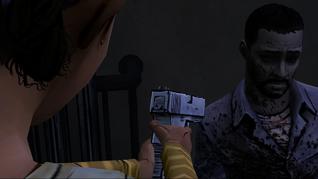 No Time Left - Clementine atira em Lee.png