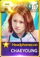 Chaeyoung SuperStar JYPNation HeadphonesOn R Card