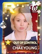 Chaeyoung SuperStar JYPNation OutOfControl LE R Card