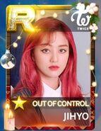Jihyo SuperStar JYPNation OutOfControl LE R Card
