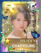 Chaeyoung SuperStar JYPNation Oxygen LE R Card