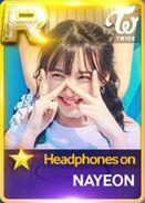 Nayeon SuperStar JYPNation HeadphonesOn R Card
