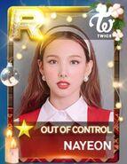 Nayeon SuperStar JYPNation OutOfControl LE R Card