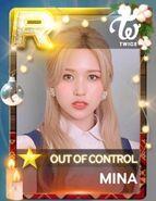 Mina SuperStar JYPNation OutOfControl LE R Card
