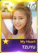 Tzuyu SuperStar JYPNation MyHeart R Card