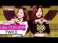 -HOT- TWICE - Like OOH-AHH, 트와이스 - OOH-AHH하게, Show Music core 20151024