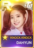 Dahyun SuperStar JYPNation KnockKnock R Card