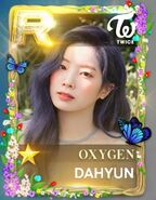 Dahyun SuperStar JYPNation Oxygen LE R Card
