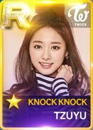 Tzuyu SuperStar JYPNation KnockKnock R Card
