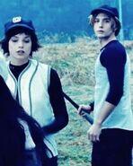 Alice et Jasper à la partie de baseball