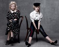 Dakota and elle fanning-sisters-vogue mag's age issuse
