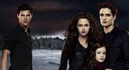 Jacob, Bella, Renesmée, Edward