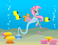 Wishgriff seapony genie-tailed with background-0