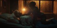 Demon kills an old woman
