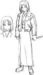 Ryougi Shiki early sketch