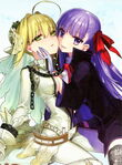 Saber and bb face to face
