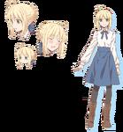 Saber Character Sheet Emiya-san