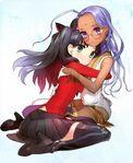 Rin and rani hug