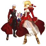 Saber,castor and archer from fate extra