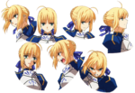 Saber ufotable Fate Zero Character Sheet2