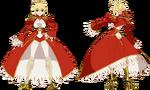 Saber Nero Studio SHAFT FateExtra Last Encore Character Sheet