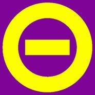 Yellow logo purple bkgd