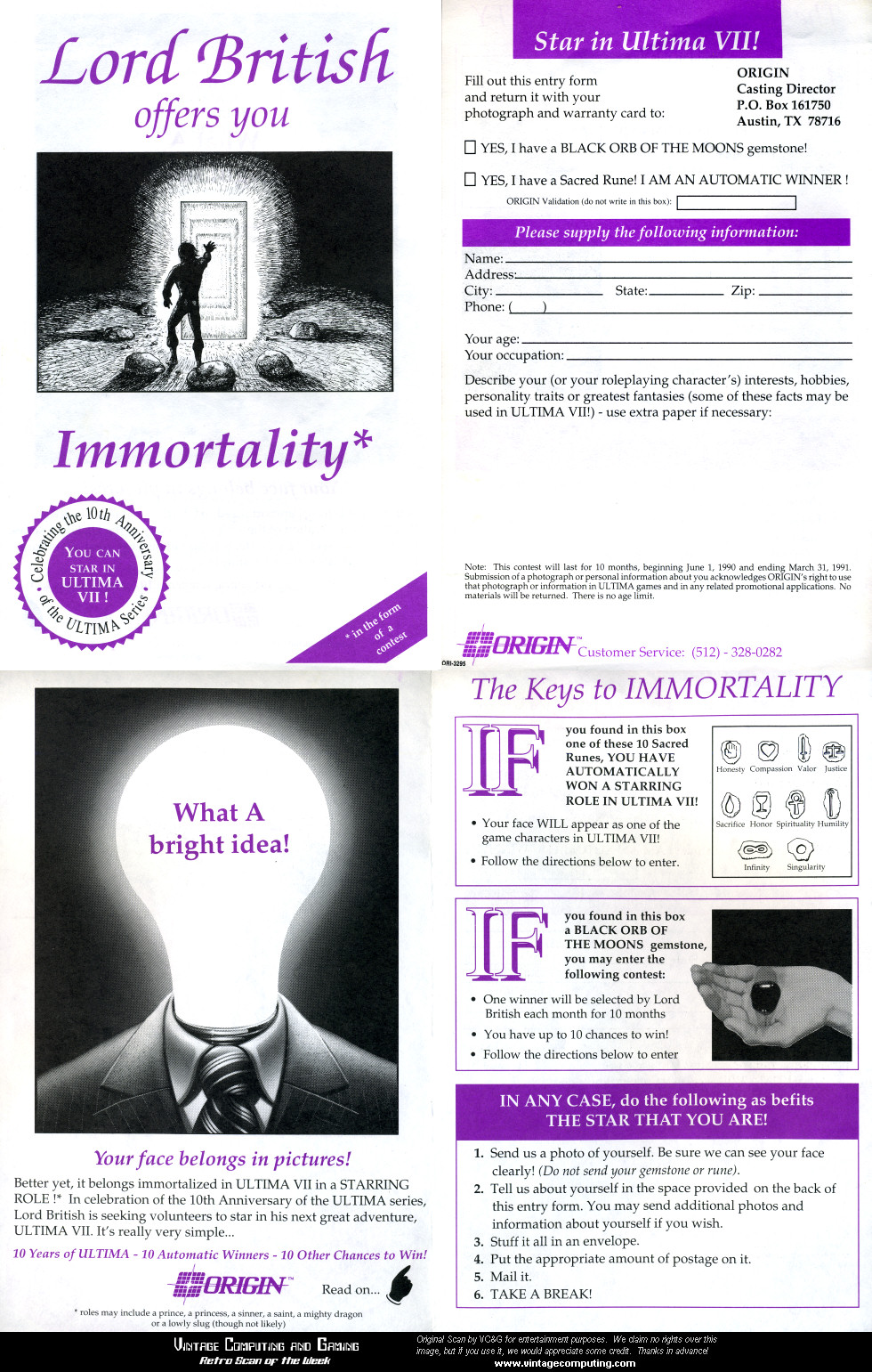 Immortality Contest