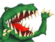 Cartoon scary dinosaur