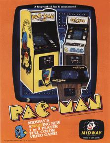 Pac-Man T-Shirt Official Maze Chase Arcade Game Retro Namco Atari Blue S XL NEW