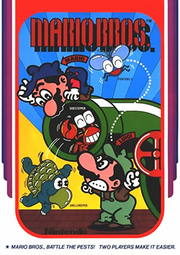 Player characters Mario and Luigi surrounded by the three enemies in the game