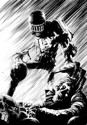Official Merch 2000AD Comics T-SHIRT Top JUDGE DREDD Frazer Irving Judge Death