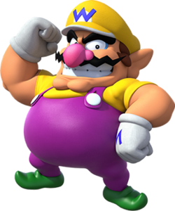 Wario, as seen in promotional artwork for Super Mario Party.