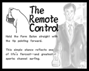 Instructions explaining how to hold the video game remote control.
