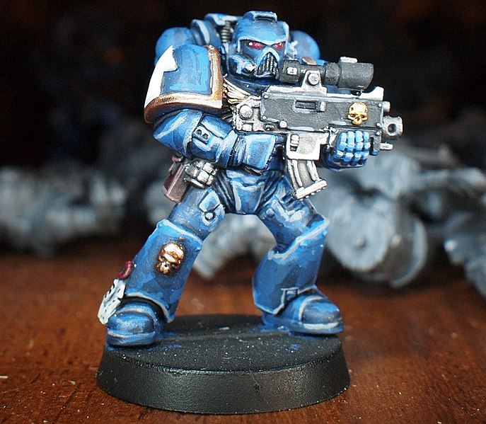 Citadel G.W Warhammer40k Space Marines Legion of the Damned Bolter 4 Metal 1998