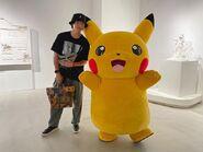 Yuya with Pikachu